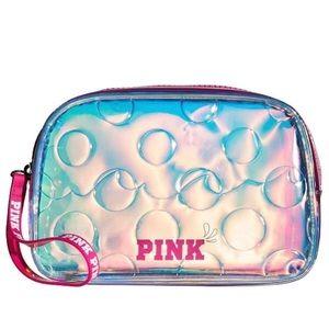 🆕 VS Pink Iridescent Aqua Beauty Cosmetic Bag